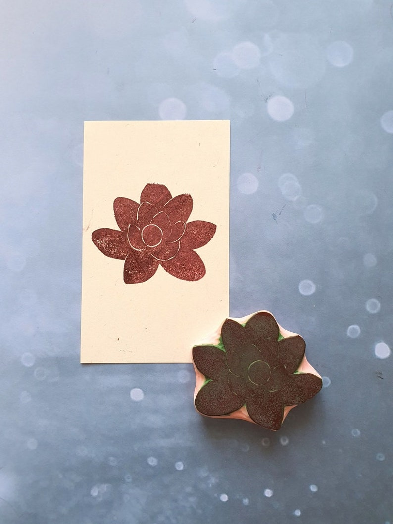 plant notebook Succullent rubber stamp for traveler journal greenery fabric personalized aloe stamp for cardmaking project life insert