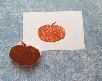 Pumpkin rubber stamp for junk journal, vintage vege stamp for traveler notebook, hallooween treats, fall stationery, autumn decor