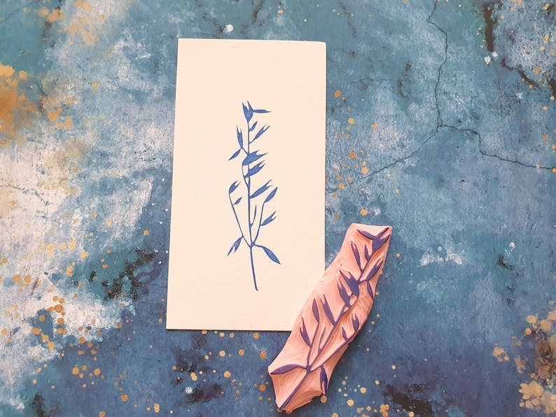 wheat embellishment grain stamp cereal twig grass plant Oat rubber stamp for botanical journal gift for nature lovers meadow flower