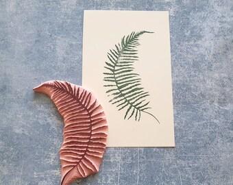 Fern rubber stamp for bullet journal, leaf stamp for scrapbooking, forest plant print, shabby chic ephemera, junk journal, altered art