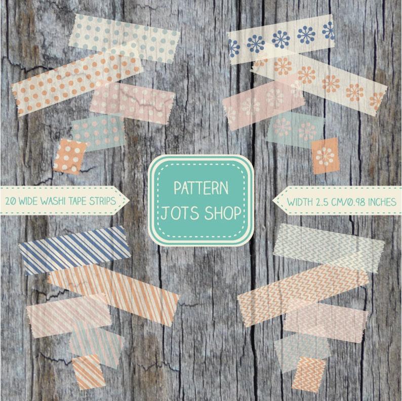 DIY Instant Download Digital Washi Tape Vintage Patterns image 0