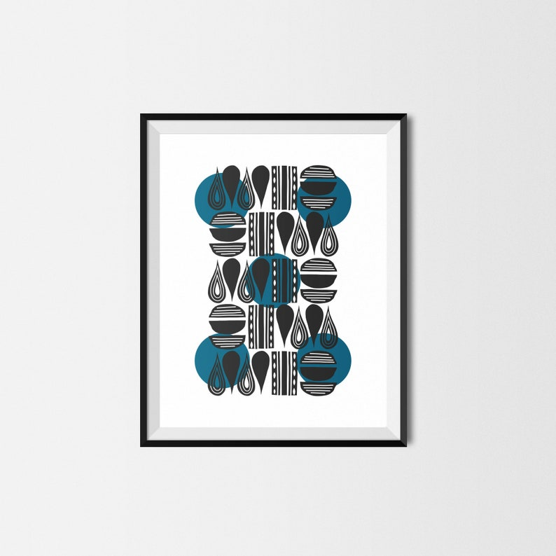 Scandinavian Design Printable Poster // Black and White Wall image 0