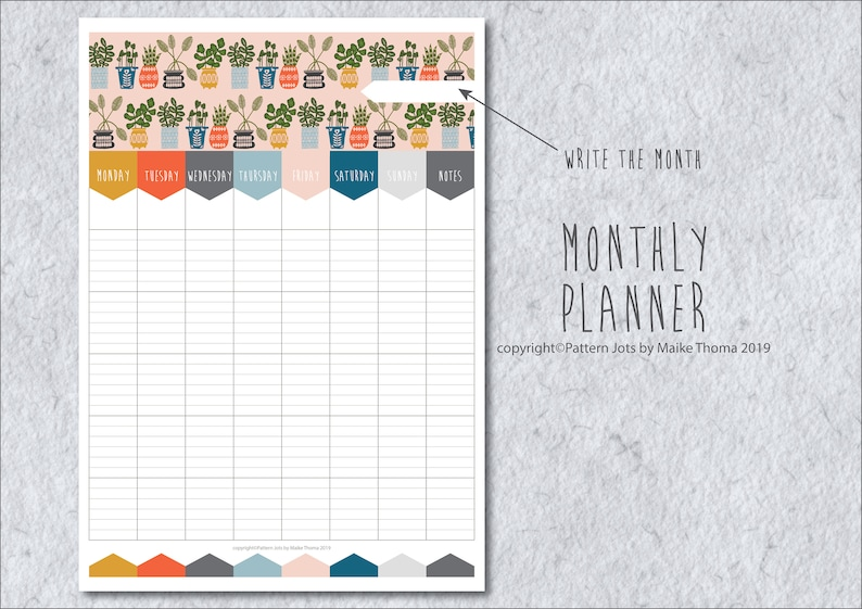 Monthly Planner Printable Planner Page // Monthly Organizer // image 0