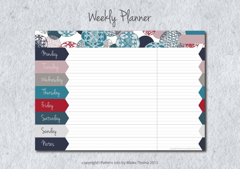 DIY Weekly Planner Printable Planner Meal Planner Weekly To image 0