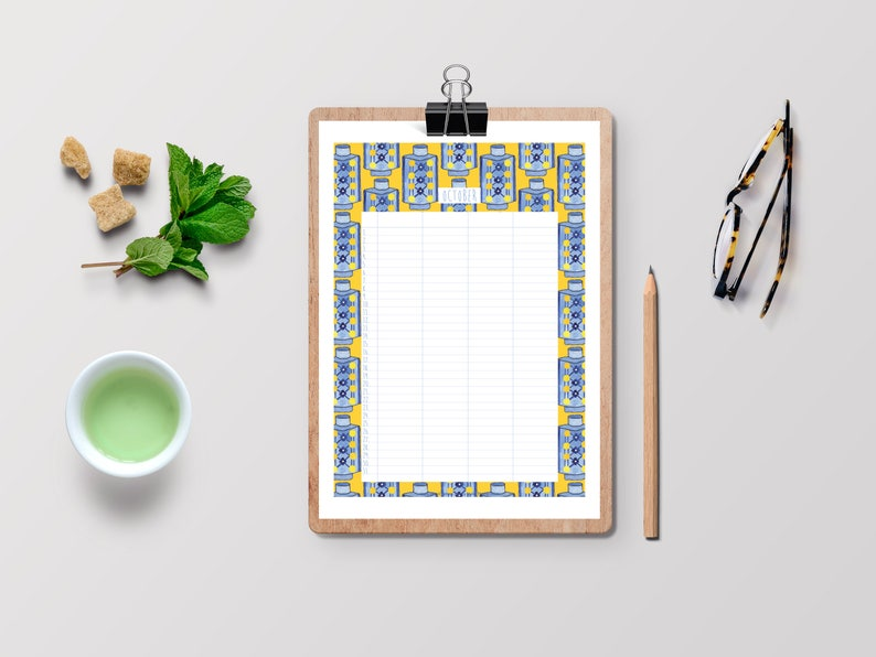 Handmade Printable Perpetual Family Planner Instant image 0