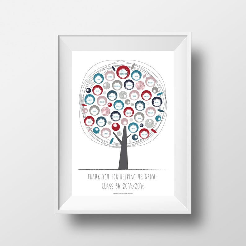 Printable Teacher/Mentor/Boss Appreciation Gift Custom-Made image 0