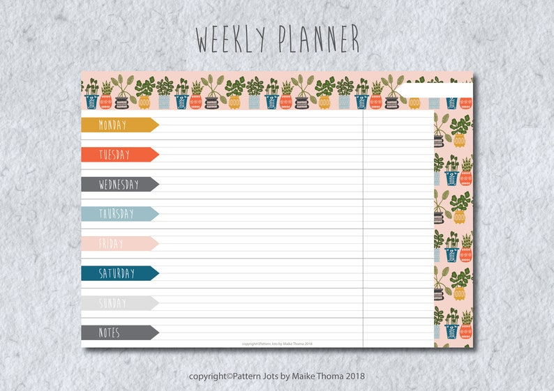 DIY Weekly Planner Printable Planner Meal Planner Weekly To image 0