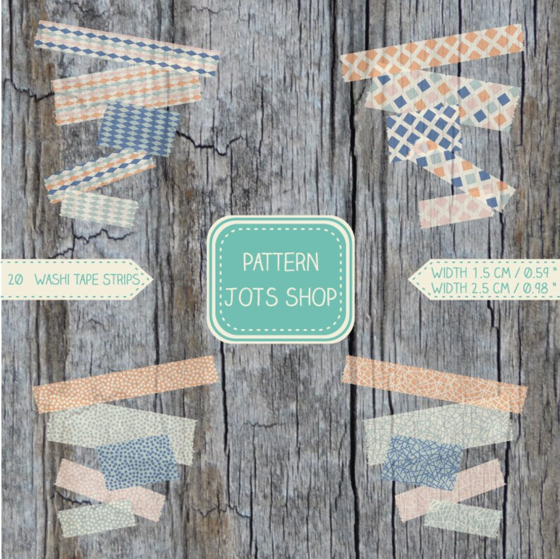 DIY Instant Download Digital Washi Tape Mixed Vintage image 0