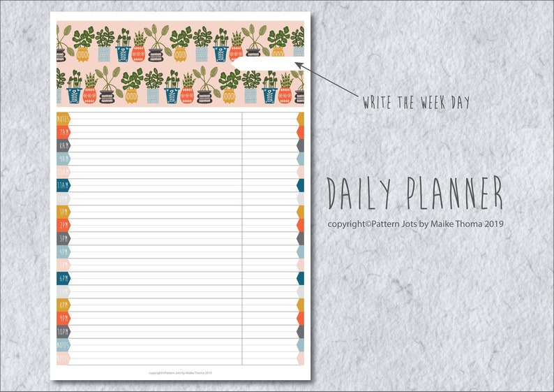 Daily Planner Printable Planner Pages // Daily Organizer // image 0