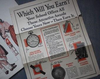 Vintage School Awards Brochure, School Charity Sale Reward Catalogue, Vintage Advertisment, How to Be a Salesman, Vintage Retro Ephemera