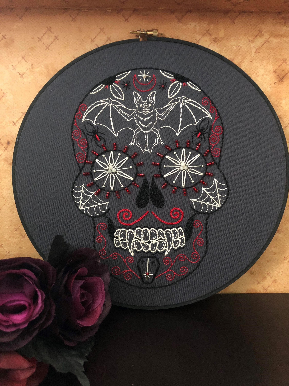 Porte cl/é Skull Mexicain Blanc @ Kustom Factory