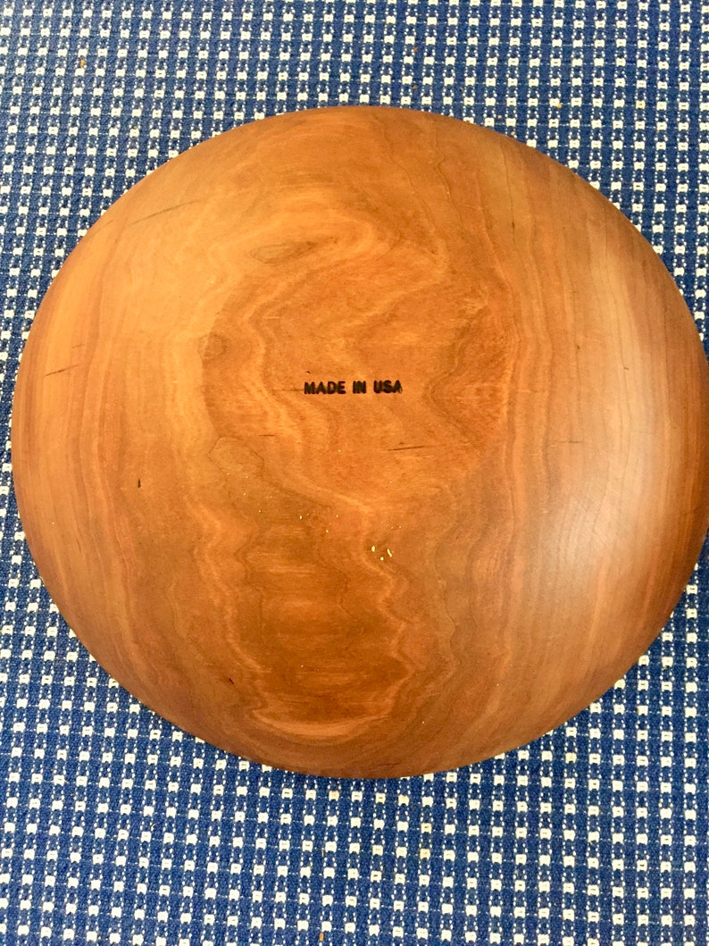 Large Vintage Wooden Bowl Made in USA
