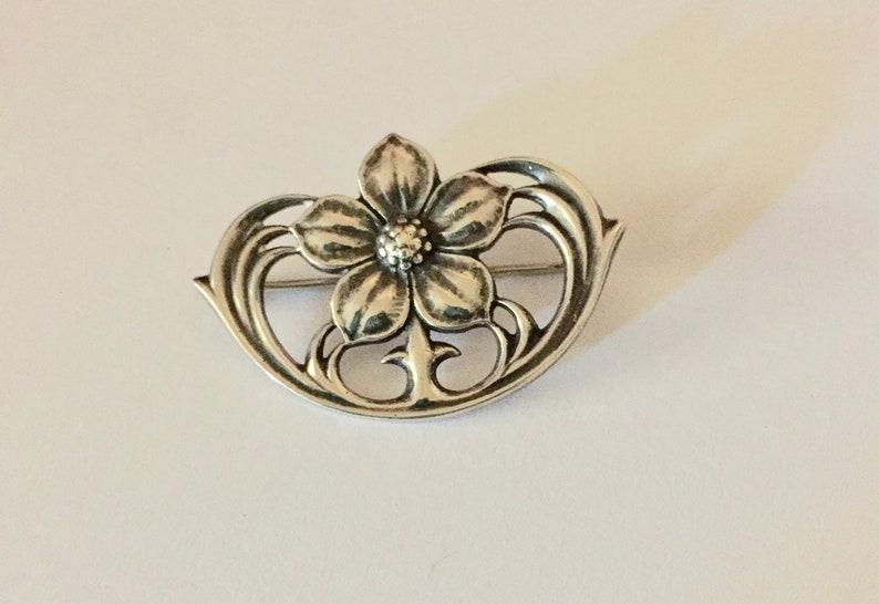 a2b45b6c078 James Avery Sterling Silver Flower Brooch Pin Retired Design | Etsy
