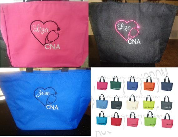 Scrubs Life Zip 1 Black Tote Bags Personalize Nurse Student RN cna lpn ER Lvn Nicu Medical Room Zipper Hospital On Sale