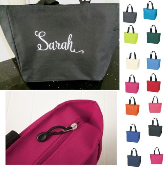 4 Personalized Monogrammed Embroidered Tote Bridesmaid Gift Bags Bridal Shower