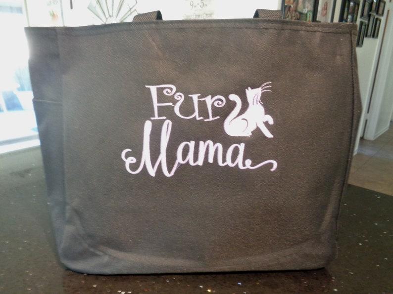 1 Tote Bags Vet Veterinarian Tech Fur Mama Animals Dogs Cat Etsy