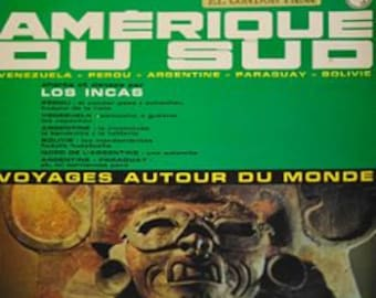 "Vinyl Los Incas South America ""voyage autour du monde"" music // Andean music // Indian music // panpipes"