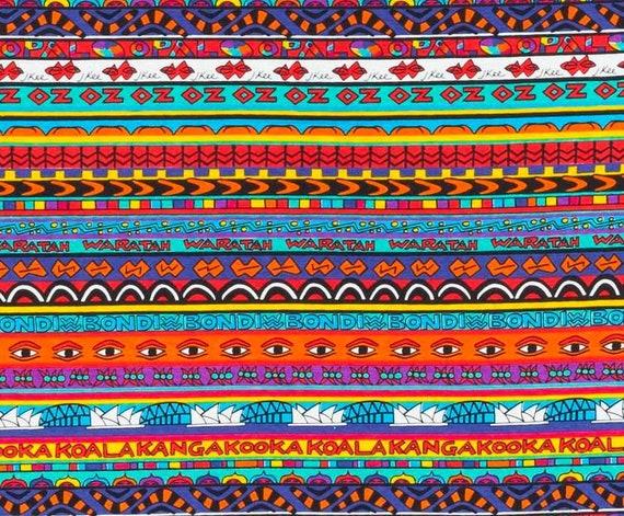 Jenny Kee Uni Oz Rare Vintage Fabric Circa 1981 1982 Etsy