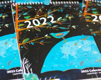 A4 2022 Art Wall Calendar, Fine Art Monthly Calendar, 2022 Wall Calendar, Wall Calendar 2022, New Years Gift, Christmas Gift idea for Mum
