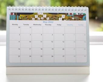 2022 Calendar, 2022 Desktop Calendar, Desk calendar 2022, Flip Calendar, Mini Desk Calendar Month to View, Office desk accessories