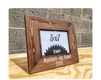Personalized Frame, Wedding Frame, Wedding Gifts, Rustic Wood Frame, Rustic  Wedding Gift, Desktop Frames, Custom Wood Frames, Rustic Frames