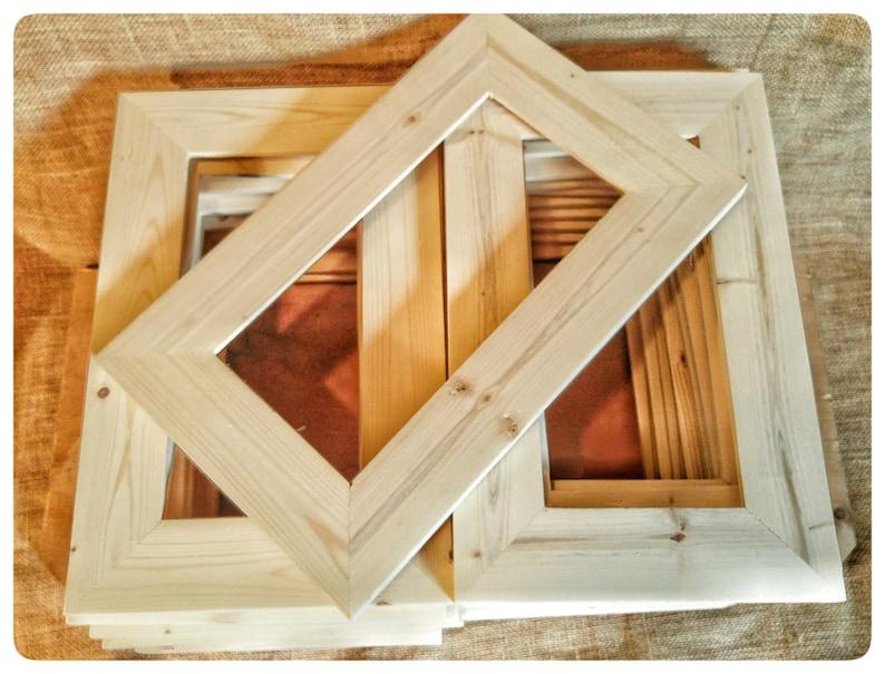 25 Wood Frames No Hardware Or Glass Bulk Wood Frames 5x10 Wood Frame Unfinished Wood Frames Wood Crafts Supplies Diy Wood Frames