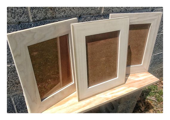 9x12 Frames Hardware And Glass Wood For Frames Blank Wood Etsy