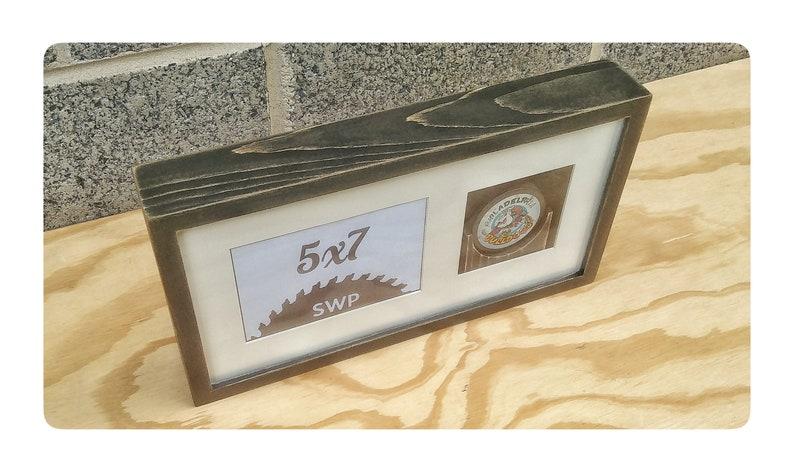 Rustic Box Frame Custom Wood Frames Hockey Puck Frame Desktop Frames Box Frames Hockey Box Frame Wood Shadow Box Rustic Hockey Frames
