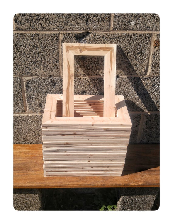25 Wood Frames, No Hardware or Glass, Bulk Wood Frames, 5.5x11\