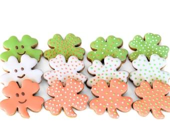 Gourmet Dog Treats - Dog Cookies - St Patrick's Day Dog Treats - Organic Dog Treats - Shamrock Clover Lucky Dog Treats - Dog Biscuits - Gift