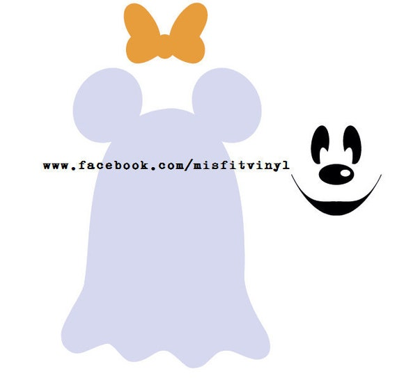 Mickey And Minnie Ghost Svg Disney Svg Mickey Svg Minnie Etsy