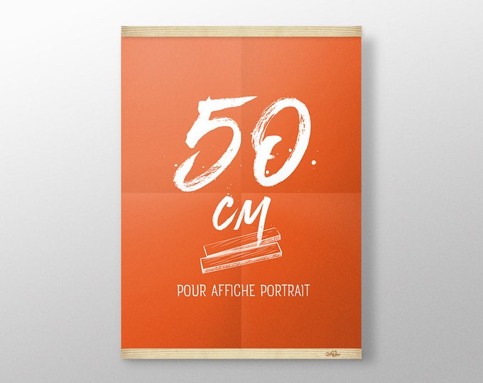 Featured listing image: Grip Poster, Magnetic Poster Hanger, Wood Poster Hanger, Wall Hanging, Picture Frame, Print Hanger, Poster Frame, Wood Frame, Made in France