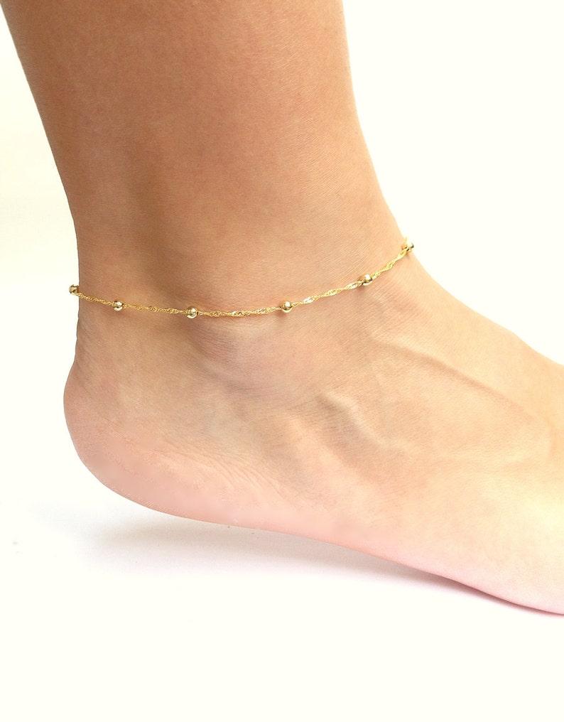 Gold Ankle Bracelet Anklets for Women Gold Chain Anklet image 0