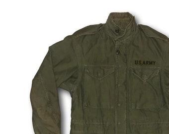 6c02fc08cb7 Vintage US ARMY M65 OG 107 Vietnam Era Military Sateen Cotton Field Coat  Jacket Sz Reg Small
