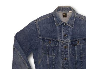 6465e62c Vintage 70's LEE Riders Denim Jean Trucker Jacket PATD-153438 Made in USA  Sz M