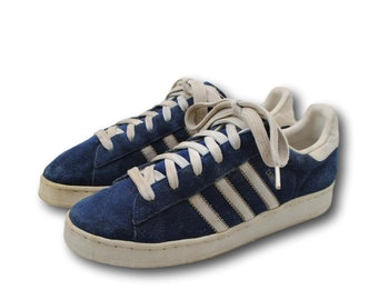1846c5696e541 Vintage ADIDAS  Campus  Blue Suede Leather Athletic Sneakers Tennis Shoes M  5.5   W 7.5