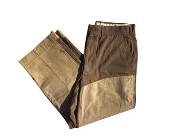 317e5664252ee Vintage 1960's LL BEAN Cursive Label Tan Outdoor Hunting Trousers Pants Sz  33 x 28