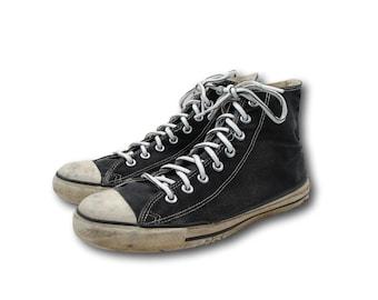 f35381186ee1 Vintage USA Converse All Star Chuck Taylor Black Canvas Hi Top Sneakers Sz  10
