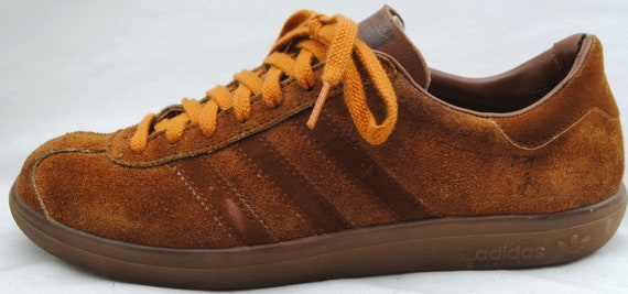4fe3dc077fb73 Vintage ADIDAS 'Hawaii' Brown Suede Leather Athletic Sneakers Tennis Shoes  Sz 8.5 Made in France