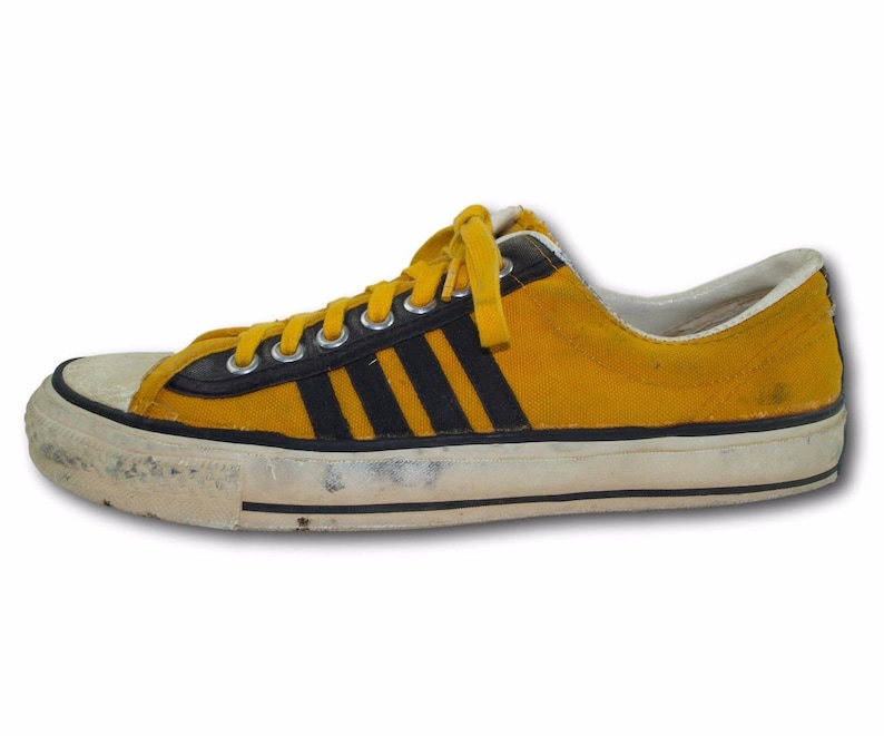 49fd072ac6b6a Vintage 1970's CONVERSE 'The Winner' USA Gold Canvas Athletic Sneakers  Shoes Sz 11 Made in USA