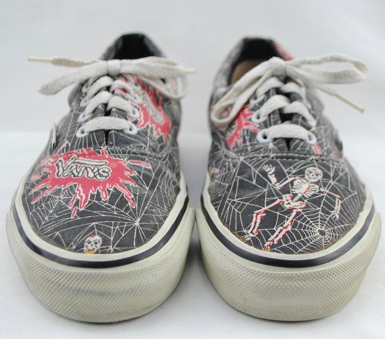 Vintage 90 s VANS USA Spider Web Print RAD Canvas Skate  42885b083c