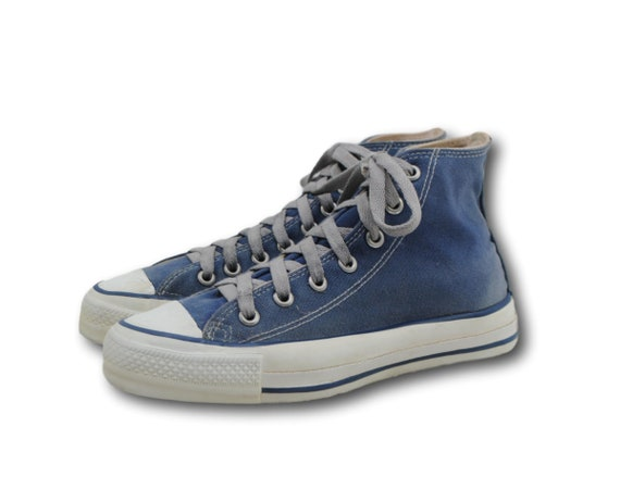 e2b972a7bc8f Vintage USA Made CONVERSE All Star Blue Canvas High Top