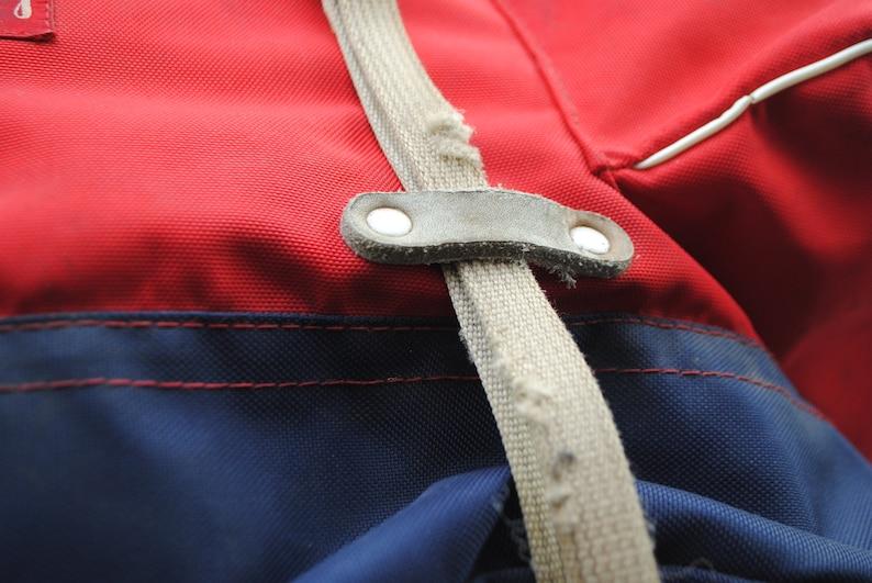 Vintage JOCKEY Red Canvas Alpine Tent Outdoor Hiking Rucksack Backpack