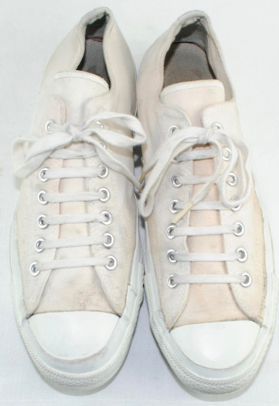 Vintage 70's CONVERSE Military Issue ARMY Athletic Sneakers Shoes Made in USA Sz 11.5