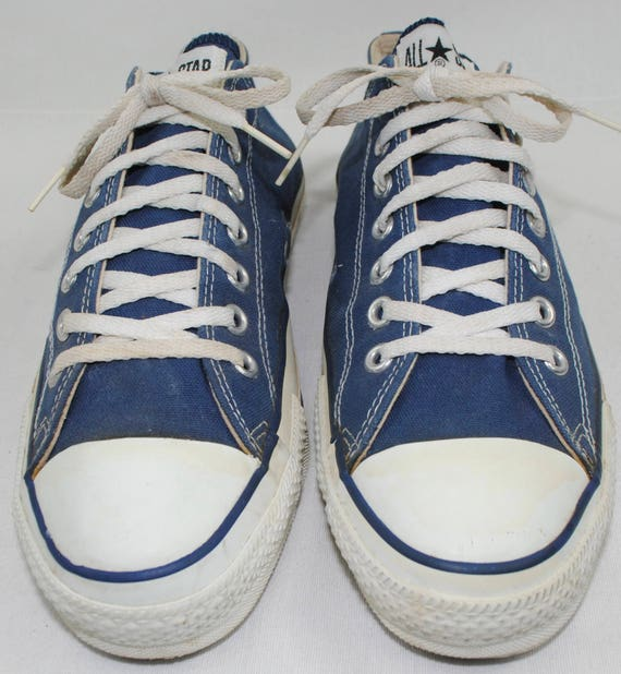 d1a8cf517c8b Deadstock Men s Vintage CONVERSE Blue Canvas Low Top