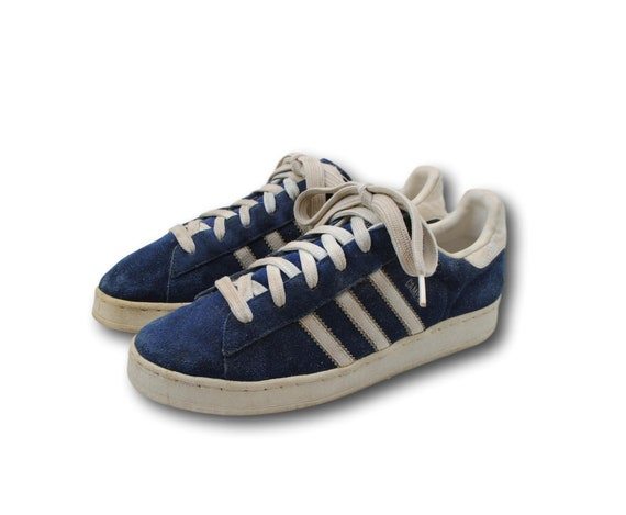 Vintage ADIDAS 'Campus' Blue Suede Leather Athletic Sneakers Tennis Shoes M 5.5 W 7.5