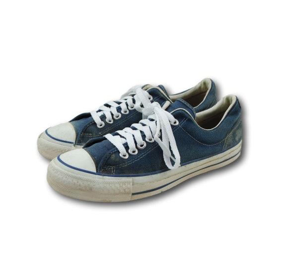 Jahrgang 1970 CONVERSE 'Gewinner' USA blau Leinwand sportliche Sneakers Schuhe Sz 9,5 hergestellt in USA