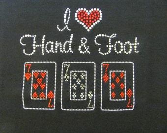 Hand & Foot Rhinestone Shirt