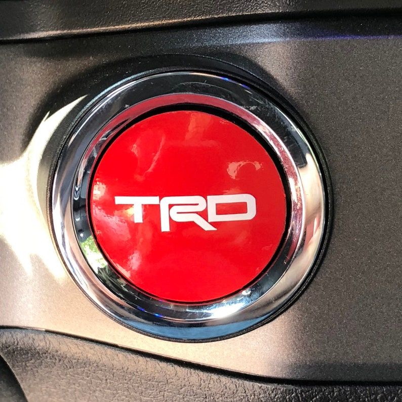Toyota Push Button Starter vinyl decals