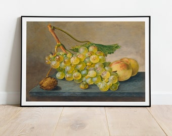 Bunch of Grapes by Wybrand Hendriks| Wall Decor Art Poster| Framed Art Print| Art Canvas| Wall Art Print| Poster Print| Art Wall Decor